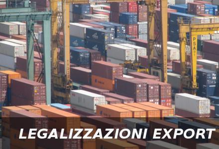 Legalizzazioni per Export